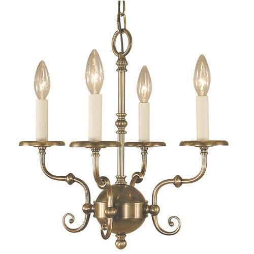 Framburg 2374-SBR 4-Light Siena Bronze  Jamestown Mini Chandelier from Framburg