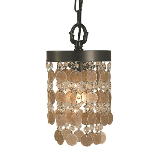 Framburg 2480-MB 1-Light Mahogany Bronze Naomi Pendant from Framburg