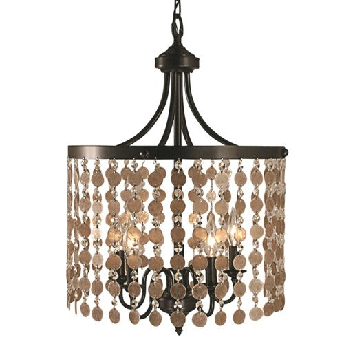 Framburg 2485-FB 5-Light Frnch Brass Naomi Dining Chandelier from Framburg
