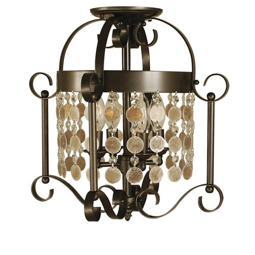 Framburg 2927-MB 4-Light Mahogany Bronze Naomi Flush / Semi-Flush Mount from Framburg