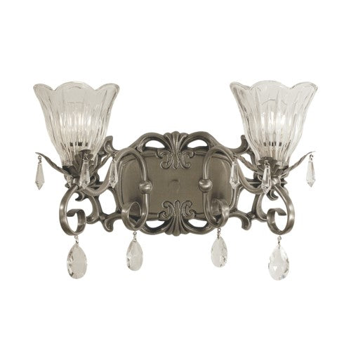 Framburg 2962-BN 2-Light Brushed Nickel Liebestraum Sconce from Framburg