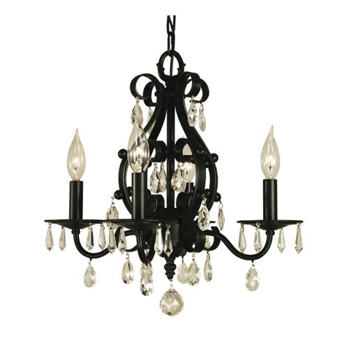 Framburg 2984-MB 4-Light Mahogany Bronze Liebestraum Mini Chandelier from Framburg