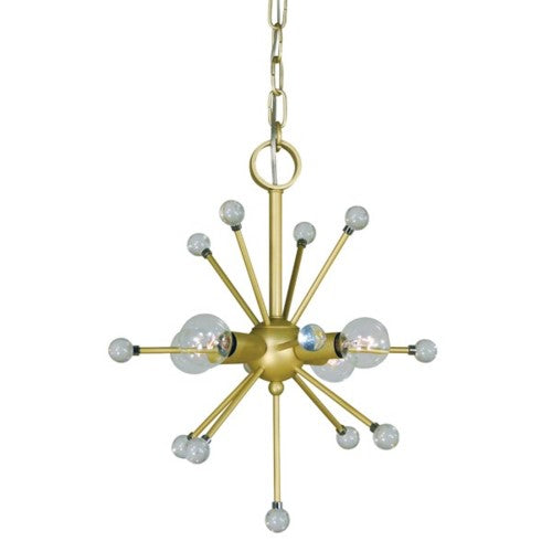 Framburg 3084-PN 4-Light Polished Nickel Supernove Chandelier from Framburg