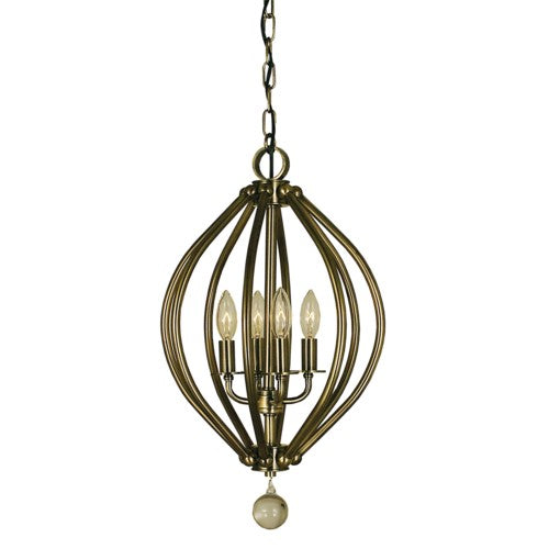 Framburg 4344-MB 4-Light Mahogany Bronze Chandelier from Framburg
