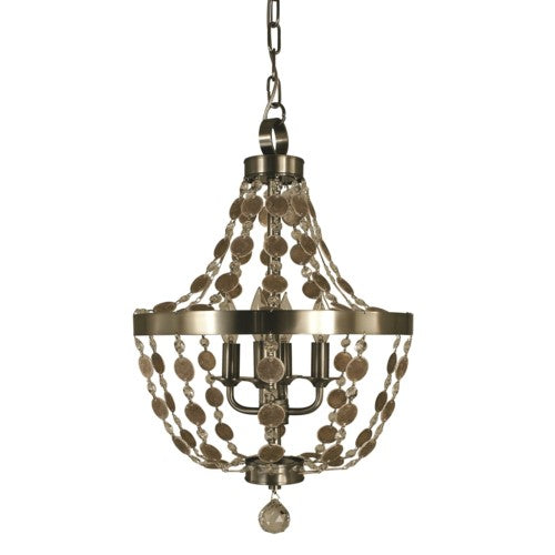 Framburg 4484-AB 4-Light Antique Brass Naomi Chandelier from Framburg