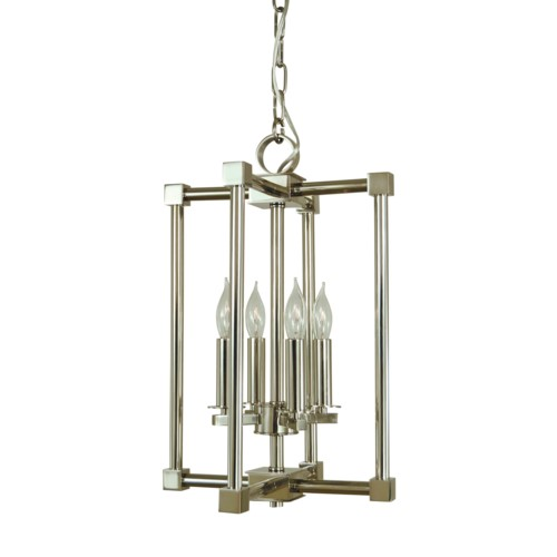 Framburg 4604-PN 4-Light Polished Nickel Lexington Chandelier from Framburg