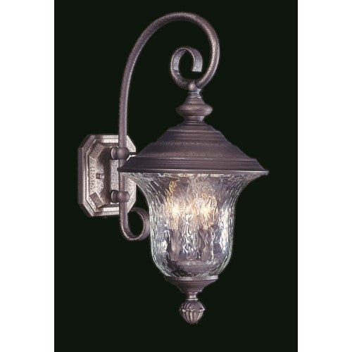 Framburg 8320-IRON 3-Light Iron Carcassonne Exterior Wall Mount from Framburg