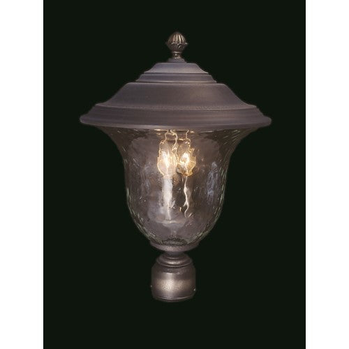 Framburg 8332-SBR 3-Light Siena Bronze Carcassonne Exterior Post Mount from Framburg