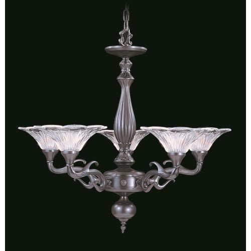 Framburg 8625-PS 5-Light Polished Silver Geneva Dining Chandelier from Framburg
