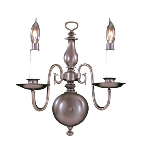 Framburg 9122-SP 2-Light Satin Pewter Jamestown Sconce from Framburg