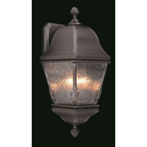 Framburg 9585-IRON 3-Light Iron Coeur De Lion Exterior Wall Mount from Framburg