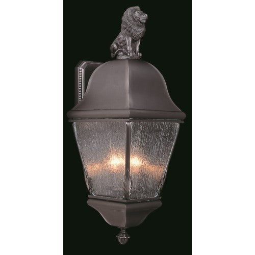Framburg 9610-RC 3-Light Raw Copper Coeur De Lion Exterior Wall Mount from Framburg
