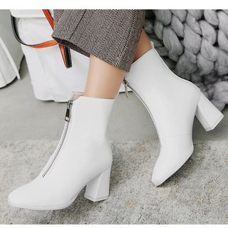 Block-Heel Short Boots from Freesia