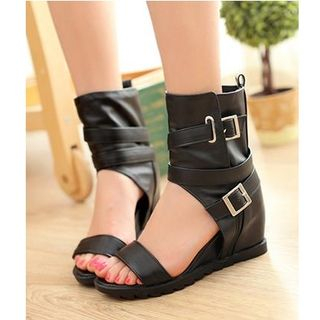 Cuffed Wedge Sandals from Freesia