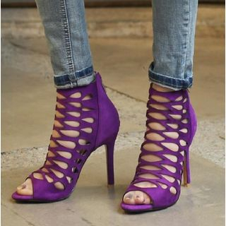 High-Heel Caged Gladiator Sandals from Freesia