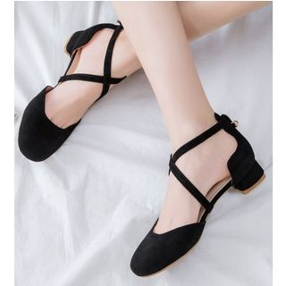 Low-Heel Cross Strap Sandals from Freesia