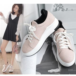 Platform Lace Up Sneakers from Freesia