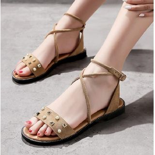 Studded Cross Strap Sandals from Freesia