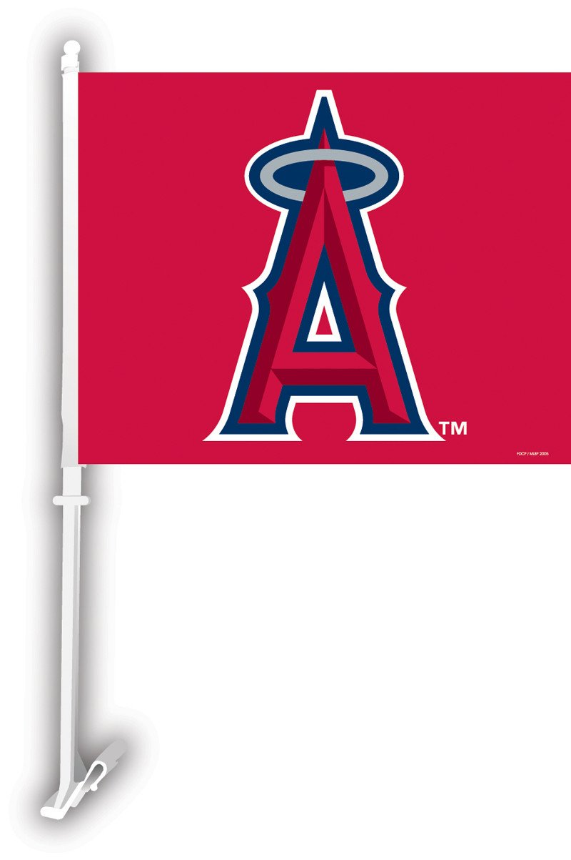 Anaheim Angels Car Flag W/Wall Brackett from Fremont Die, Inc.