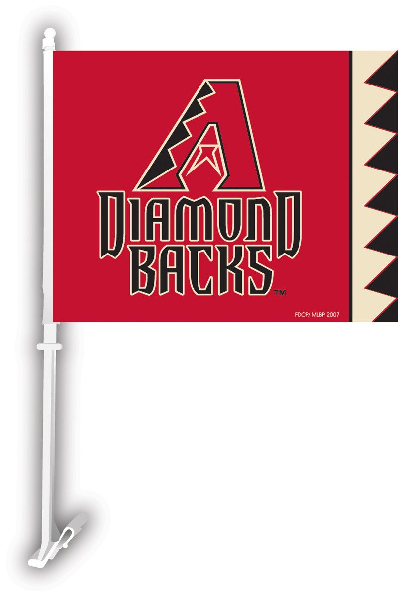 Arizona Diamondbacks Car Flag W/Wall Brackett from Fremont Die, Inc.