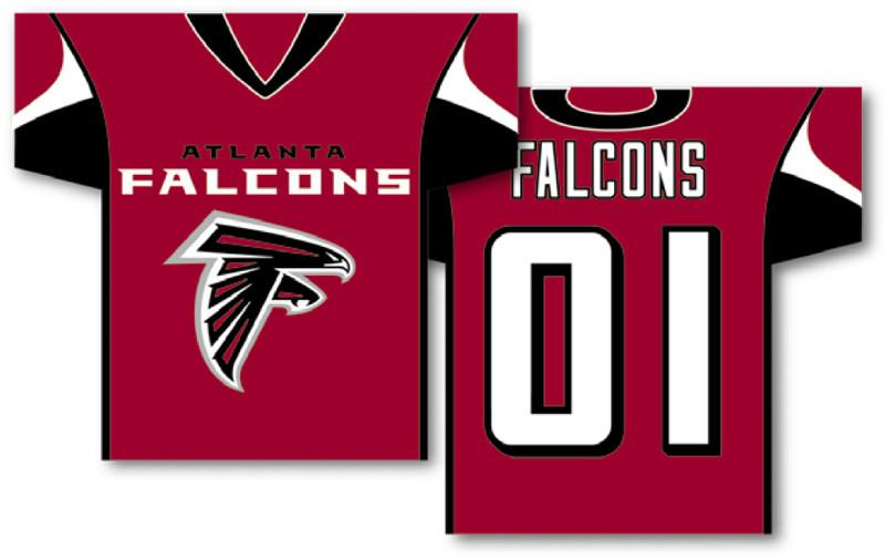 "Atlanta Falcons Jersey Banner 34"" x 30"" - 2-Sided from Fremont Die, Inc."