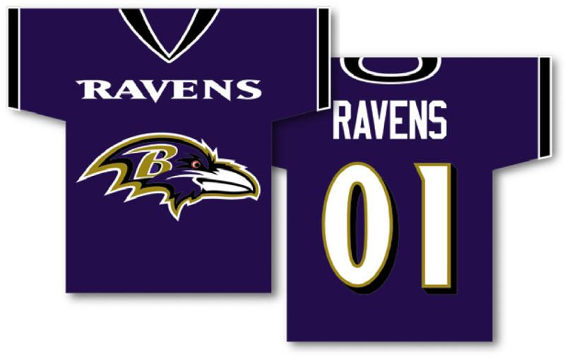 "Baltimore Ravens Jersey Banner 34"" x 30"" - 2-Sided from Fremont Die, Inc."
