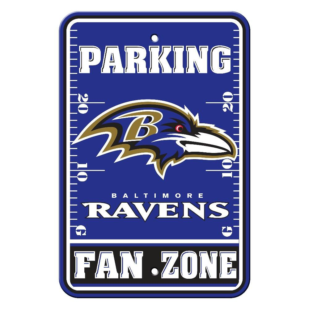 Baltimore Ravens Plastic Parking Sign from Fremont Die, Inc.