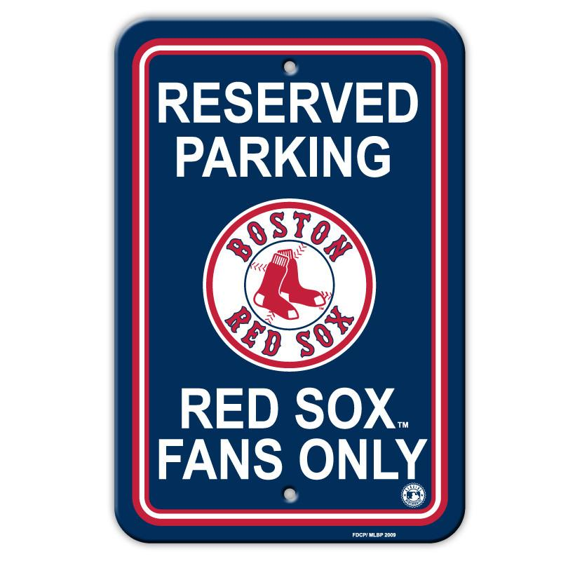 Boston Red Sox Plastic Parking Sign from Fremont Die, Inc.