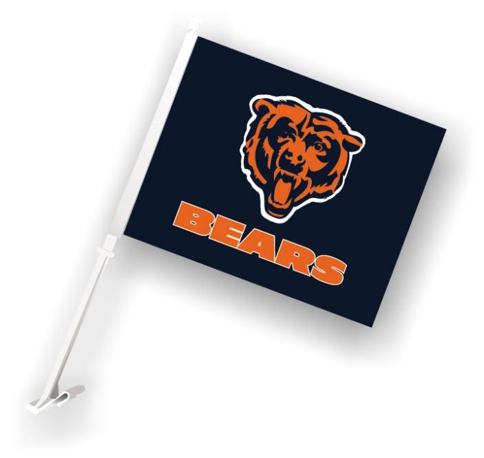 Chicago Bears Car Flag W/Wall Brackett from Fremont Die, Inc.