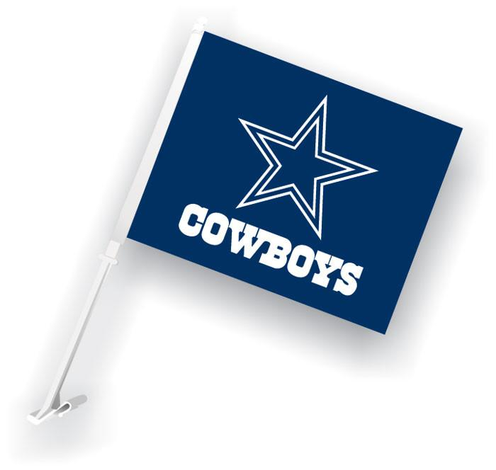 Dallas Cowboys Car Flag W/Wall Brackett from Fremont Die, Inc.