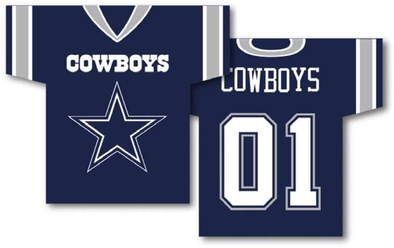 "Dallas Cowboys Jersey Banner 34"" x 30"" - 2-Sided from Fremont Die, Inc."