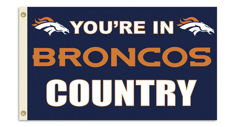 Denver Broncos 3 Ft. X 5 Ft. Flag W/Grommetts from Fremont Die, Inc.