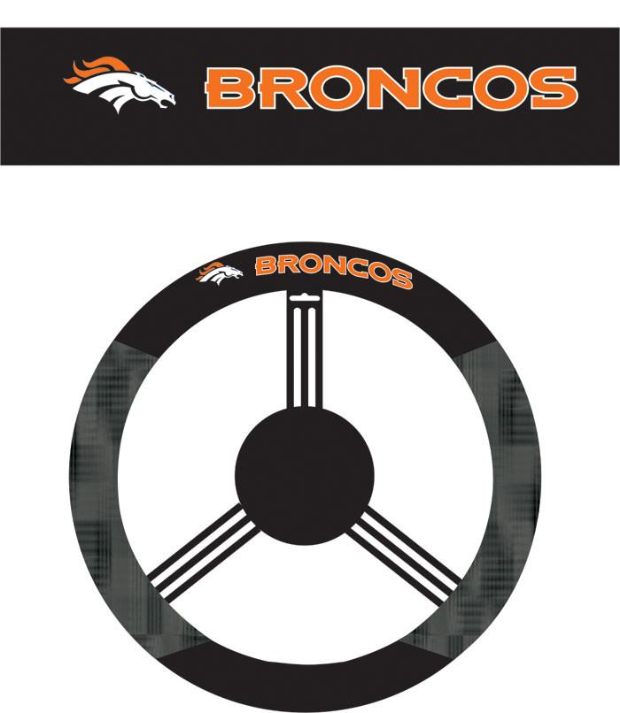 Denver Broncos Poly-Suede Steering Wheel Cover from Fremont Die, Inc.