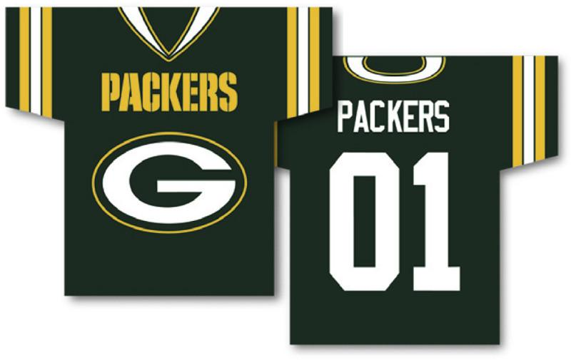 "Green Bay Packers Jersey Banner 34"" x 30"" - 2-Sided from Fremont Die, Inc."