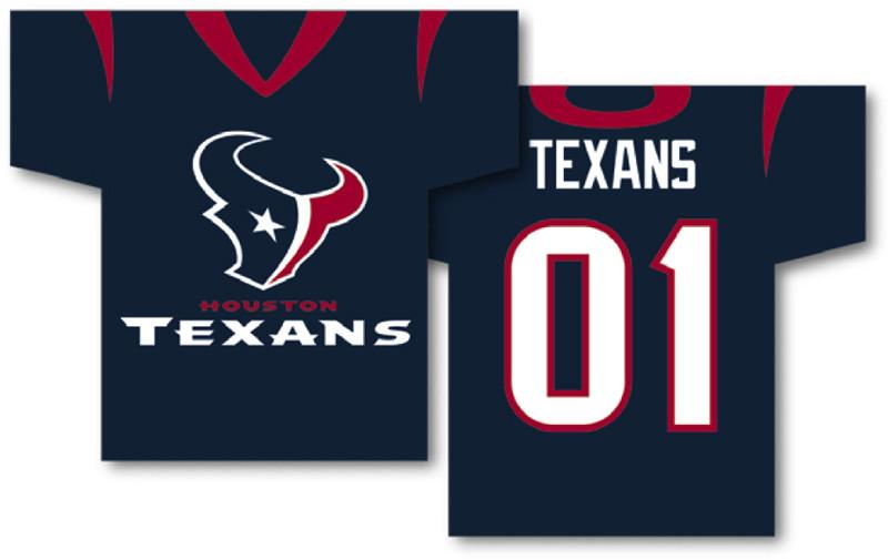 "Houston Texans Jersey Banner 34"" x 30"" - 2-Sided from Fremont Die, Inc."