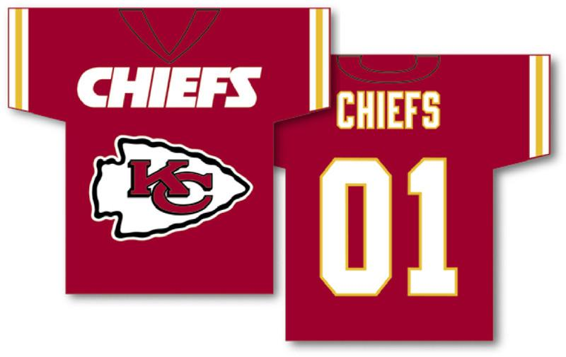 "Kansas City Chiefs Jersey Banner 34"" x 30"" - 2-Sided from Fremont Die, Inc."