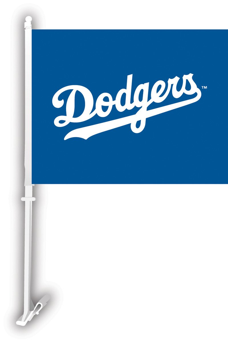 Los Angeles Dodgers Car Flag W/Wall Brackett from Fremont Die, Inc.