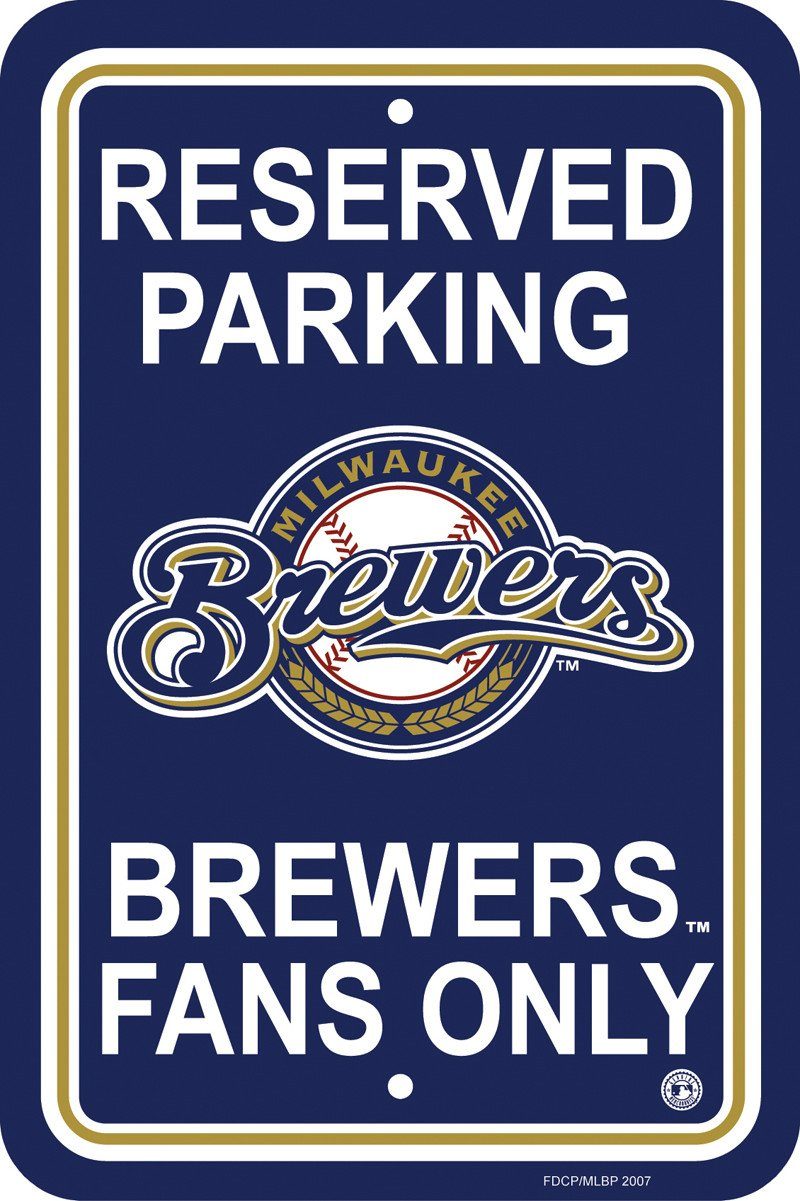 Milwaukee Brewers Plastic Parking Sign from Fremont Die, Inc.