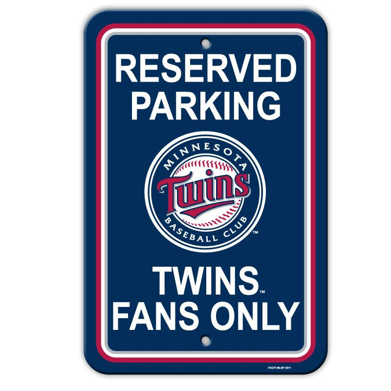 Minnesota Twins Plastic Parking Sign from Fremont Die, Inc.