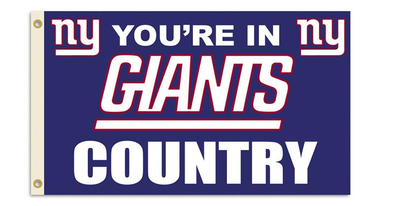 New York Giants 3 Ft. X 5 Ft. Flag W/Grommetts from Fremont Die, Inc.