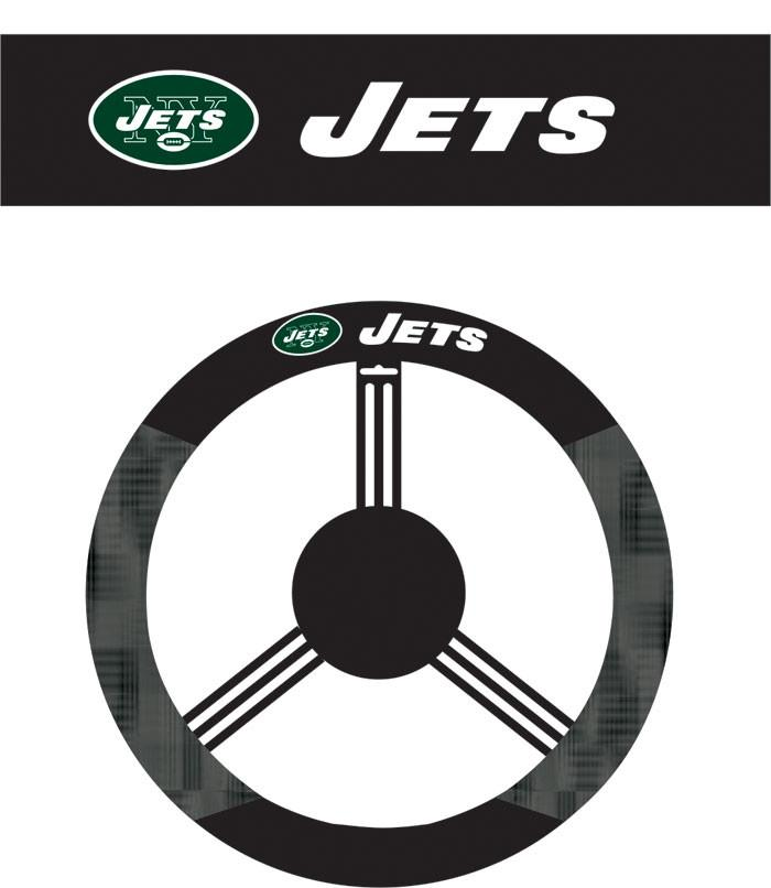 New York Jets Poly-Suede Steering Wheel Cover from Fremont Die, Inc.