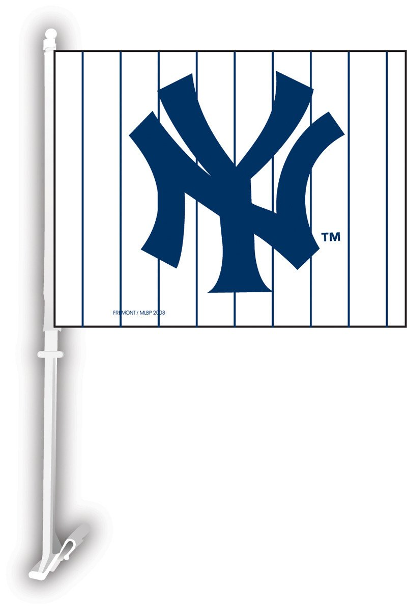 New York Yankees Car Flag W/Wall Brackett from Fremont Die, Inc.