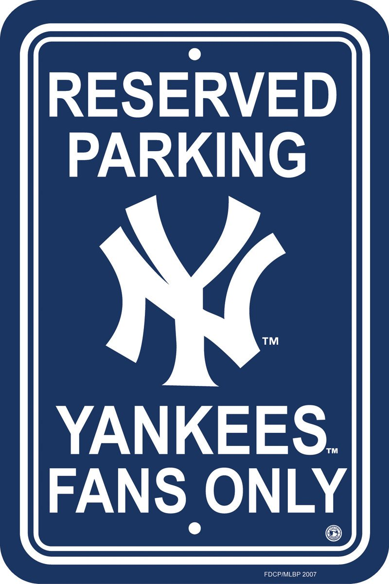 New York Yankees Plastic Parking Sign from Fremont Die, Inc.