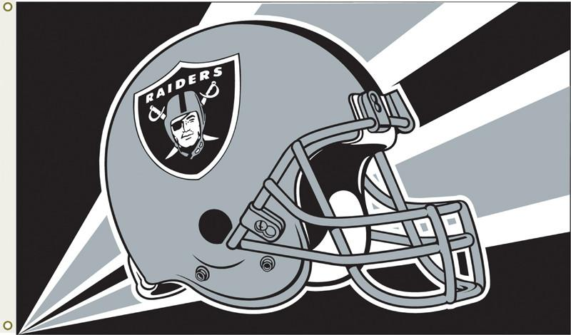 Oakland Raiders 3 Ft. X 5 Ft. Flag W/Grommetts from Fremont Die, Inc.