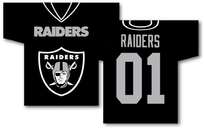 "Oakland Raiders Jersey Banner 34"" x 30"" - 2-Sided from Fremont Die, Inc."