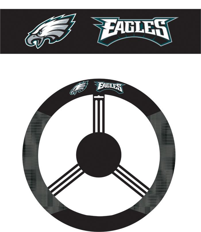 Philadelphia Eagles Poly-Suede Steering Wheel Cover from Fremont Die, Inc.