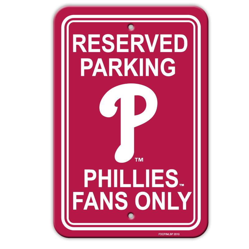 Philadelphia Phillies Plastic Parking Sign from Fremont Die, Inc.