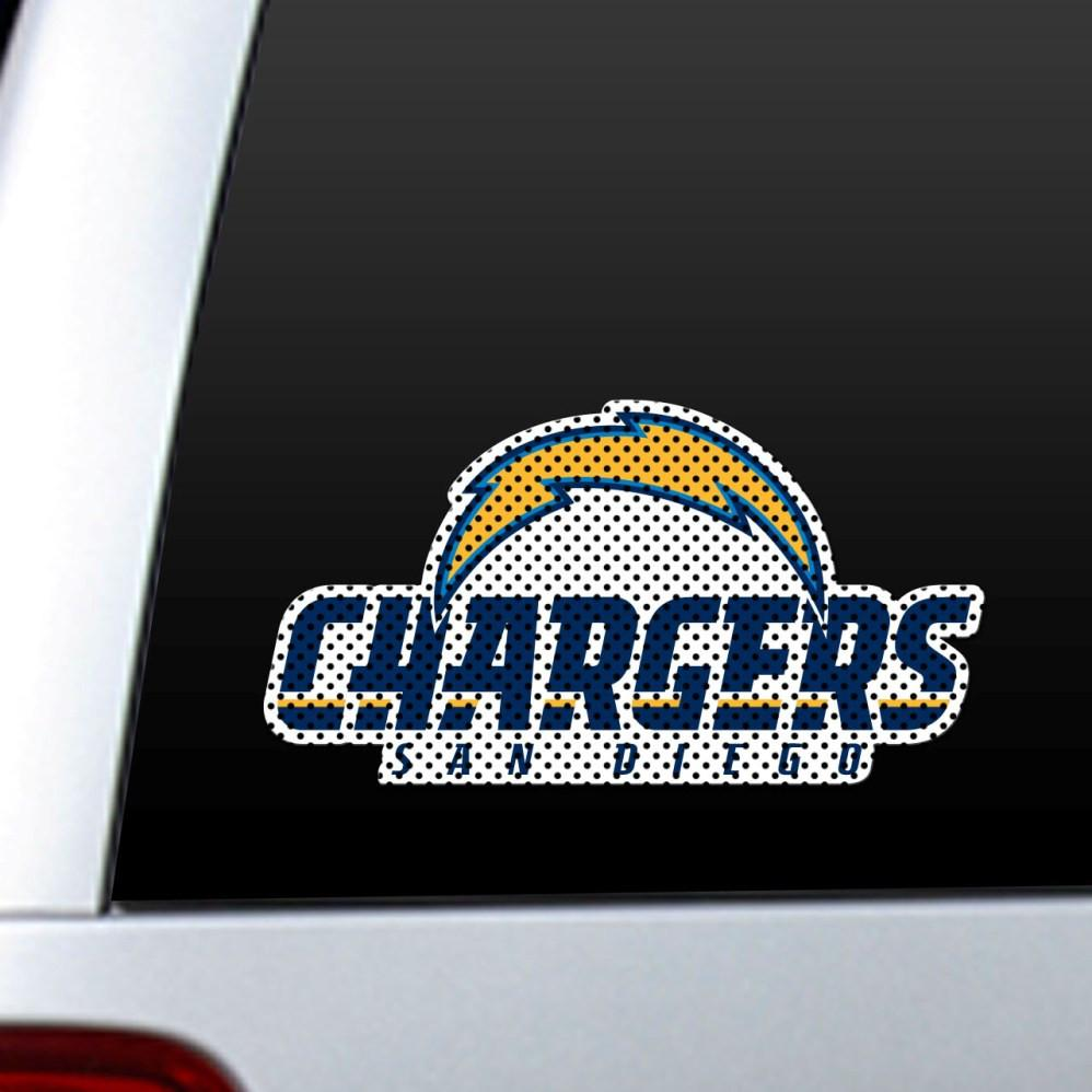 San Diego Chargers Diecut Window Film from Fremont Die, Inc.