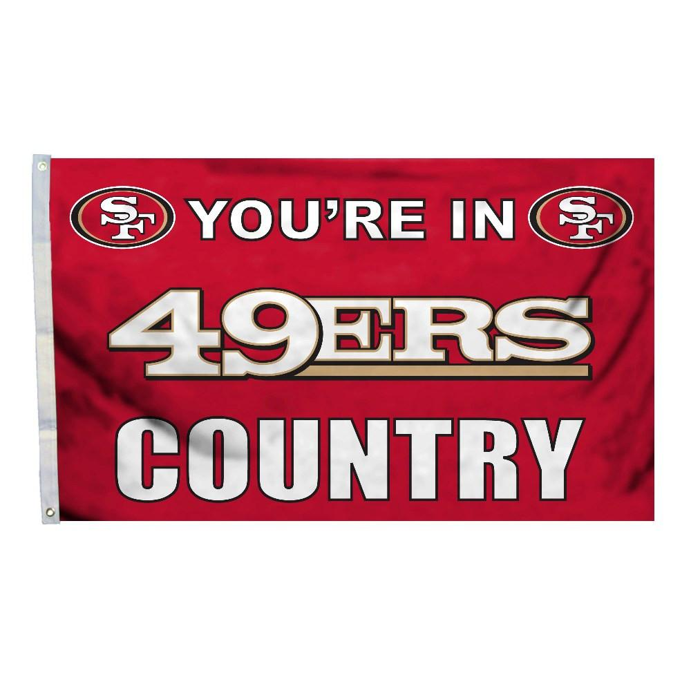 San Francisco 49Ers 3 Ft. X 5 Ft. Flag W/Grommetts from Fremont Die, Inc.