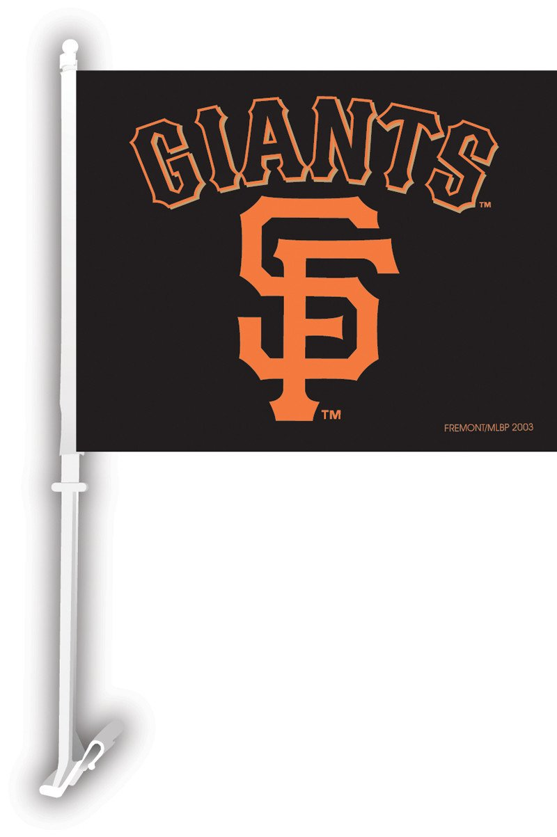 San Francisco Giants Car Flag W/Wall Brackett from Fremont Die, Inc.